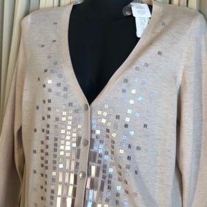 NWT Sweater Cardigan Medium Petite August Silk